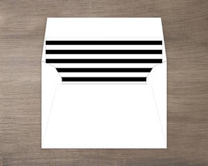 Black Stripes Small Envelope Liner