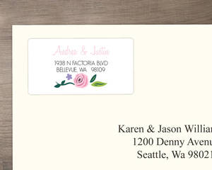 Bright Blossoms Address Label