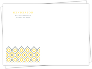 Yellow Ikat Pattern Custom Envelope