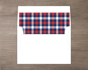 Whimsical Plaid Heart Envelope Liner