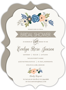Springtime Floral Bridal Shower Invitation