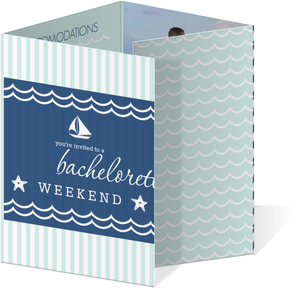 Sailboats Stripes Nautical Bachelorette Party Invitation