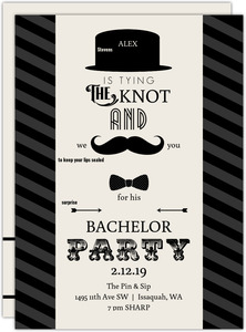 We Mustache You Bachelor Party Invitation