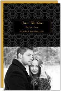 Art Deco Elegant Plaque Save The Date