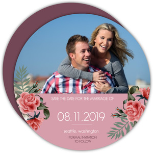 Pink Roses Save the Date