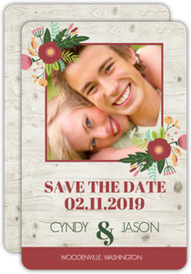 Brown Wood Texture Save The Date