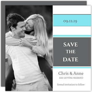 Square Blue Gray Save the Date