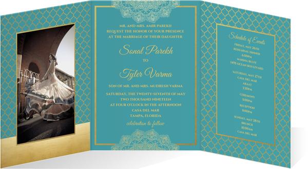 Bright Wedding Invitations: Bright Mandala Faux Gold Wedding Invitation