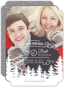 holiday save the dates holiday wedding save the dates