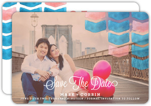 Painted Pattern Save The Date Announcement