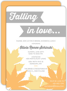 Falling in Love Leaves Bridal Shower Invitation