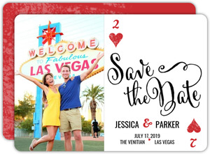 Two Hearts Poker Save The Date Announcement