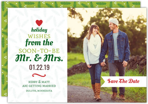 Festive Typographic Tree Holiday Save The Date Announcement