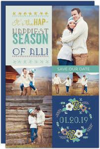 Whimsical Wishes Holiday Save The Date Announcement