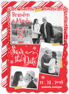 Christmas Save The Date Cards.Holiday Save The Dates Holiday Wedding Save The Dates