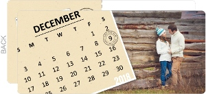 Marked Calendar Photo Collage Save The Date Postcard
