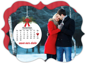 Christmas Ornament Save The Date Card