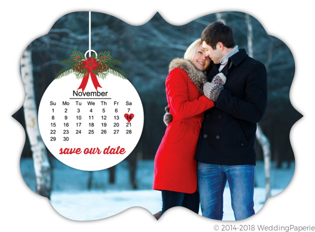 Christmas Save The Date Cards.Christmas Ornament Save The Date Card Save The Date Cards
