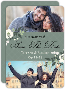 Elegant Aqua Save the Date Announcement