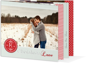 Monogram Christmas Booklet Save the Date