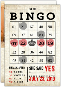 Bingo Fun Save The Date Card