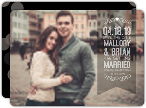 Simple and Modern Save The Date Photo Card