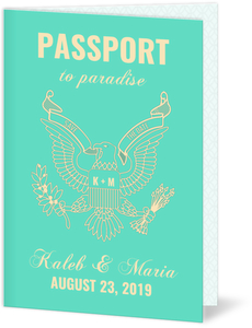 Passport to Paradise Save The Date Announcement