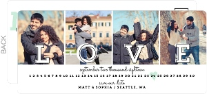 Love Letters Save the Date Postcard