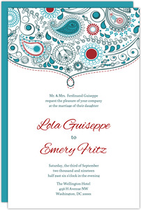 Whimsical Romance Wedding Invitation