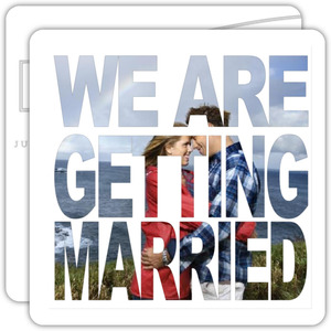Getting Married Cutout Save the Date Announcement