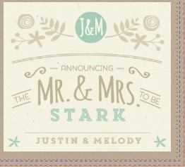 Nature Mint Kraft Wedding Booklet Invitation