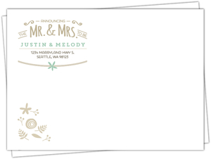 Nature Mint Kraft Full Custom Envelope