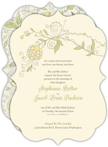 Whimsical Summer Floral Wedding Invitation