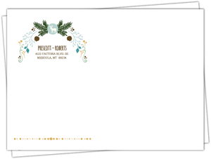 Woodland Rustic Frame Custom Envelope