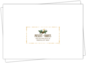 Woodland Rustic Frame Mailing Address Envelope