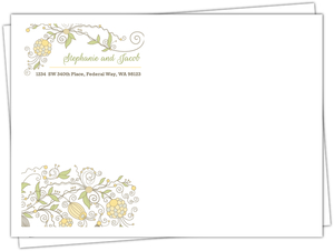 Whimsical Summer Floral Wedding Custom Envelope