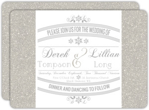 Enchanted Winter Wonderland Wedding Invitation