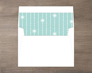 Mint Pastel Nautical Beach Envelope Liner