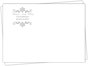 Enchanted Winter Wonderland Custom Envelope