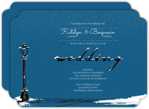 Whimsical Winter Snow Wedding Invitation