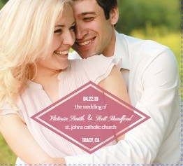 Pink Modern Watercolor Wedding Program