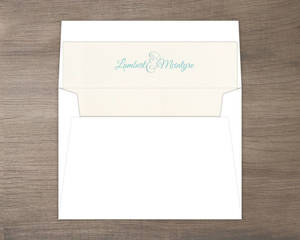 Elegant Watercolor Blooms Envelope Liner