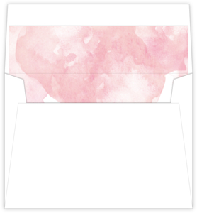 Pink Modern Watercolor Envelope Liner