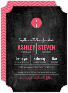 Modern Rustic Chalkboard Wedding Invitation