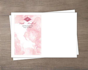 Pink Modern Watercolor Custom Envelope