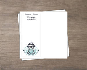 Modern Blue Lotus Flower Wedding Custom Envelope