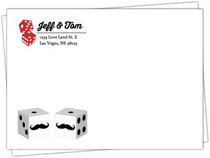 Rustic Dice Las Vegas Full Custom Envelope
