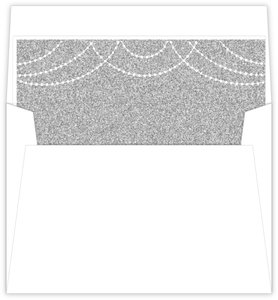 Elegant Royal Glitter Custom Envelope Liner