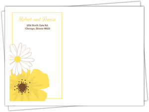 Classic Yellow Flower Custom Envelope