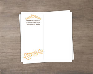 Hand Crafted Autumn Leaves Wedding Custom Envelope